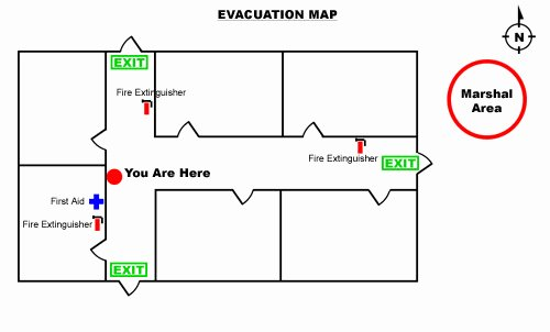 Fire Evacuation Plan Template Unique How to Create An Emergency Evacuation Map for Your