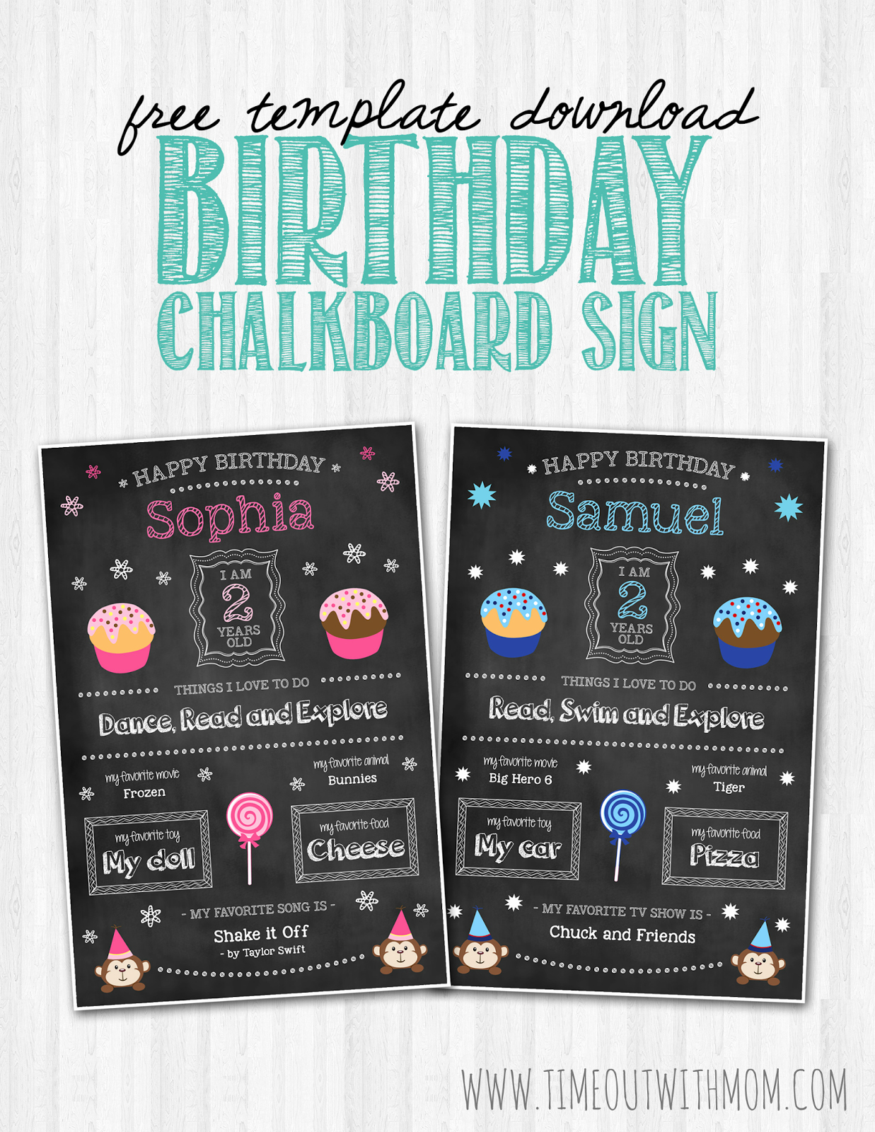 First Birthday Board Template Fresh Birthday Chalkboard Sign Template and Tutorial