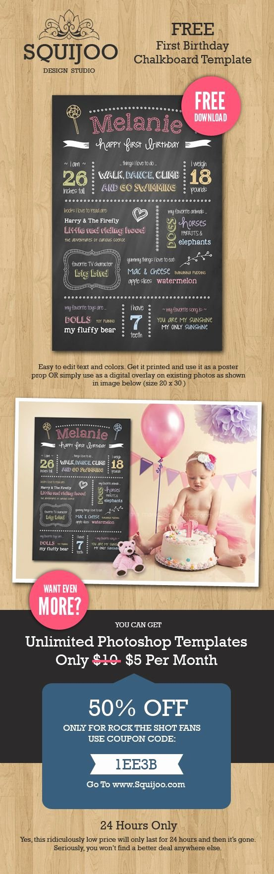 First Birthday Chalkboard Template Best Of Free Chalk Board Template for Shop