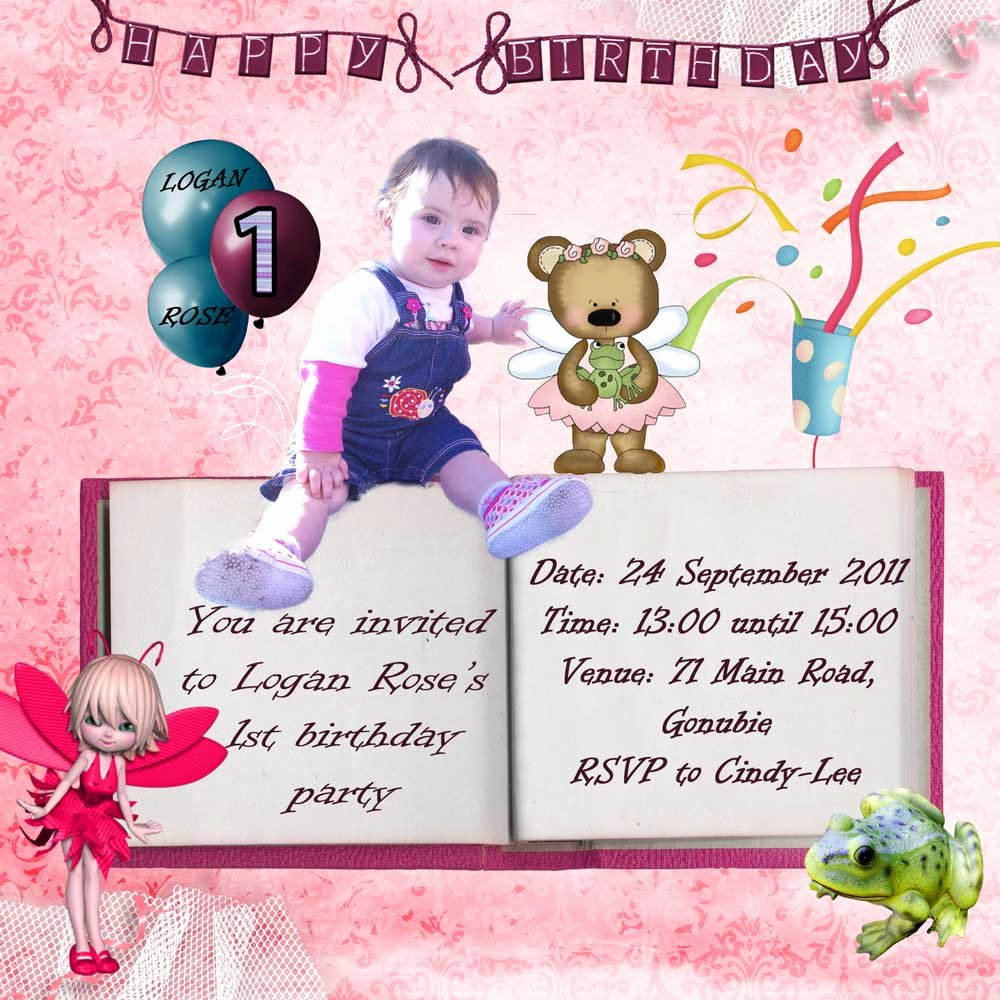 First Birthday Invitation Template Awesome Free Digital Birthday Invitations