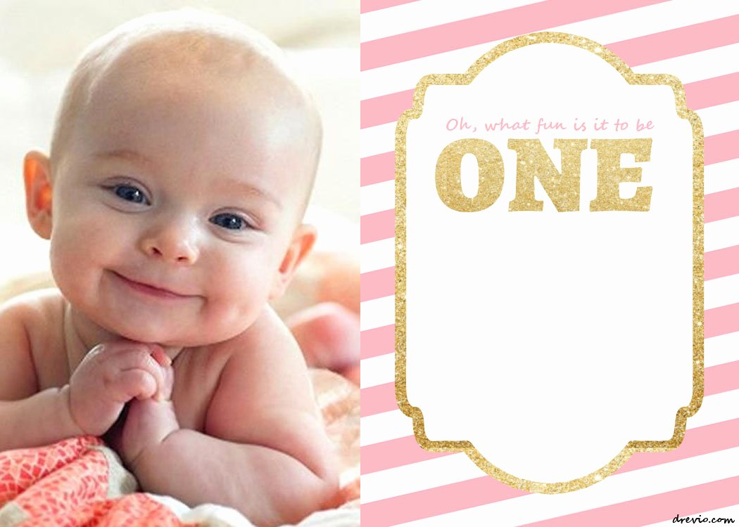 First Birthday Invitation Template Awesome Free Printable 1st Birthday Invitations Template