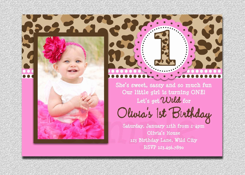 First Birthday Invitation Template Best Of 22 Custom Birthday Invitations
