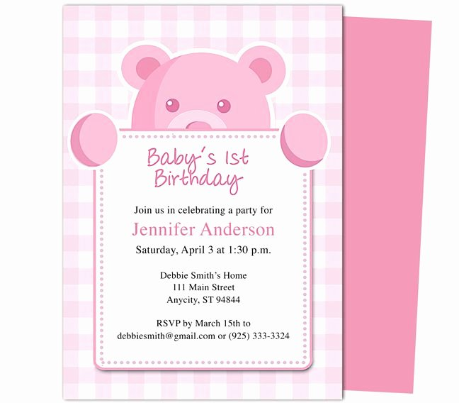 First Birthday Invitation Template Inspirational 1000 Images About Printable 1st First Birthday
