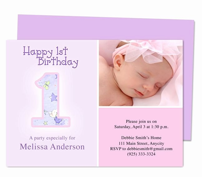 First Birthday Invitation Template Luxury 1000 Images About Printable 1st First Birthday
