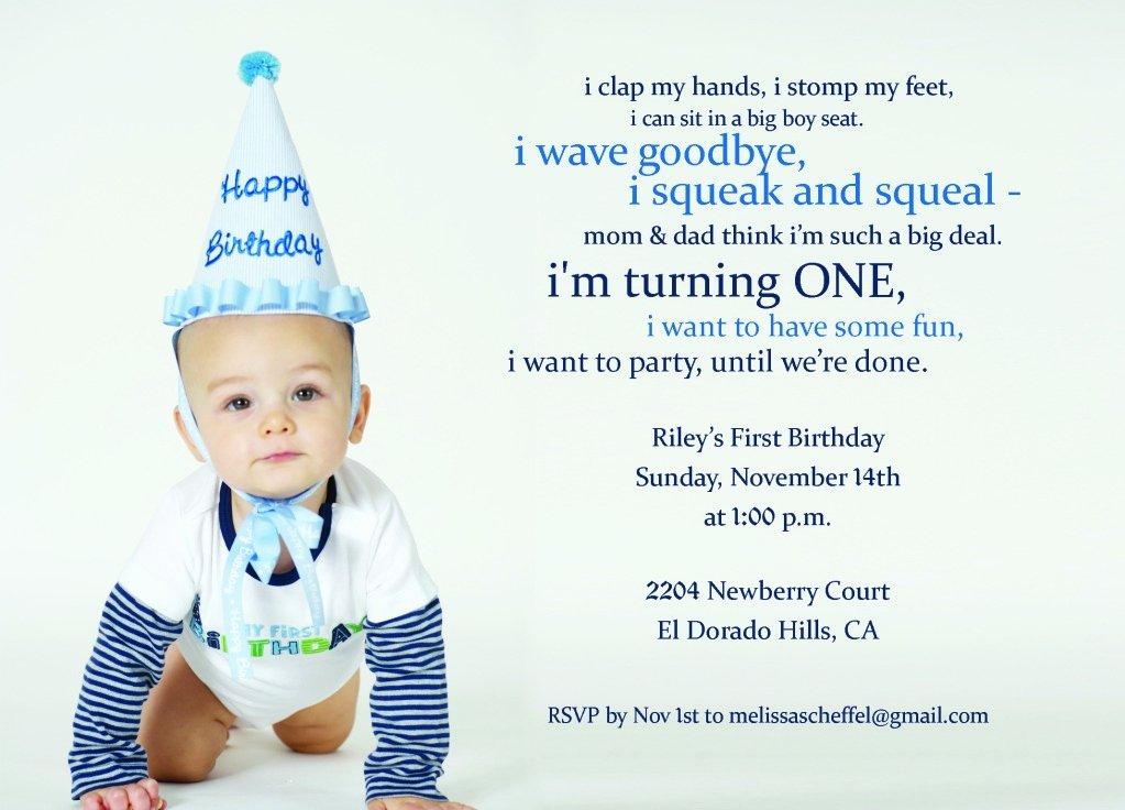 First Birthday Invitation Template Luxury First Birthday Invitation Wording with Baptism and First