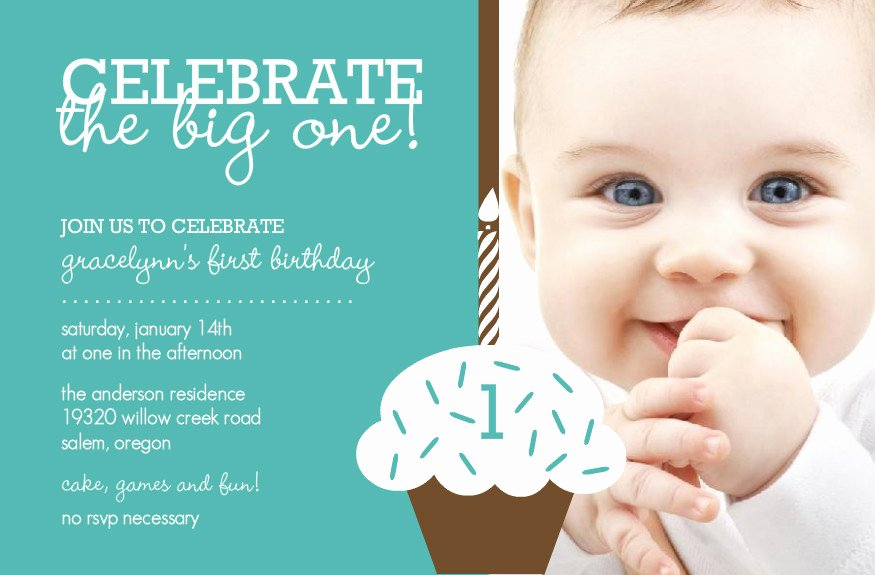 First Birthday Invitation Template Unique Baby Boy First Birthday Invitations