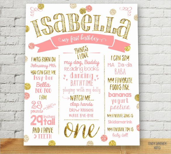 First Birthday Poster Template Beautiful 18 Birthday Poster Templates Psd Eps In Design