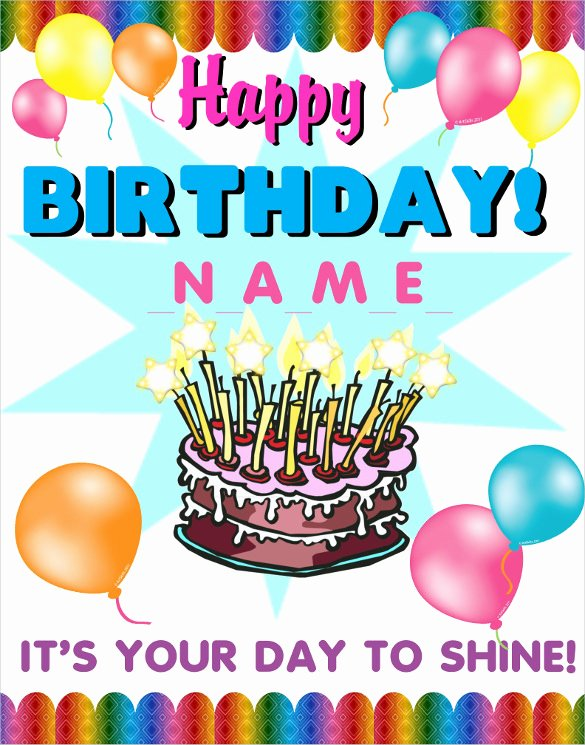 First Birthday Poster Template Best Of 18 Birthday Poster Templates Psd Eps In Design