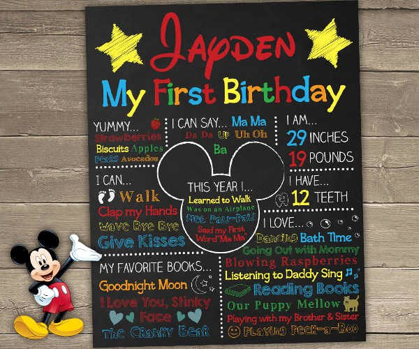 First Birthday Poster Template Fresh 25 Birthday Poster Templates Psd