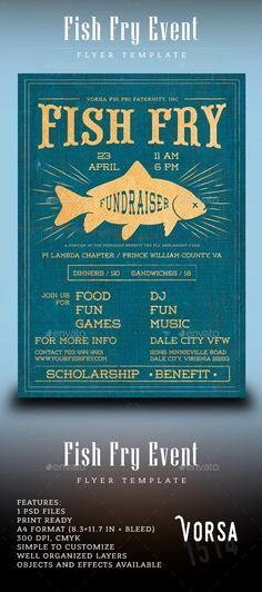 Fish Fry Flyer Template Awesome Free Fish Fry Flyer Templates Fish Fry Poster