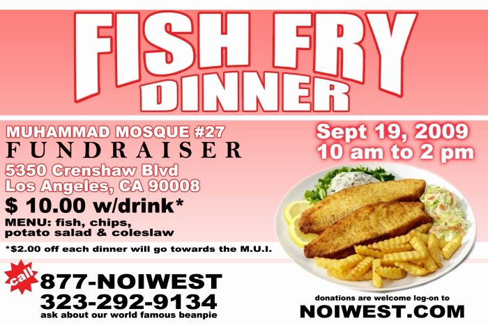 Fish Fry Flyer Template Beautiful Print by Karriem Muhammad at Coroflot