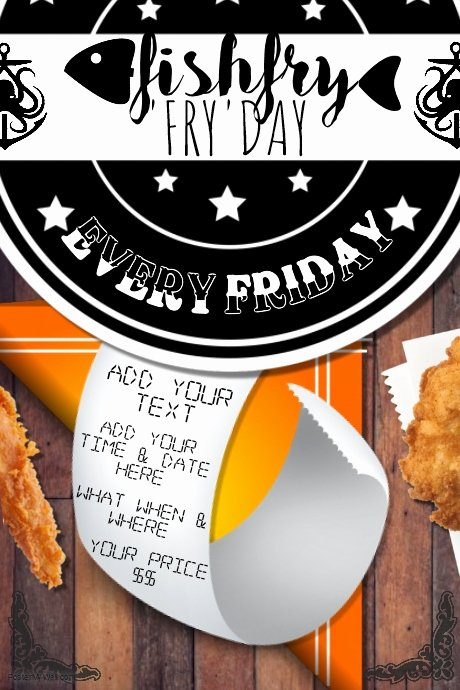 Fish Fry Flyer Template Best Of Fish Fry Food Restaurant Special Seafood Party Munity