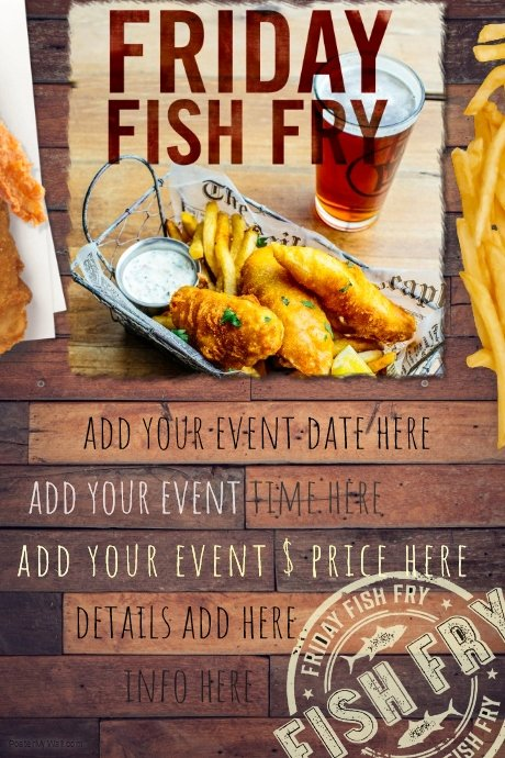 Fish Fry Flyer Template Best Of Fish Fry Food Restaurant Special Seafood Party Reunion