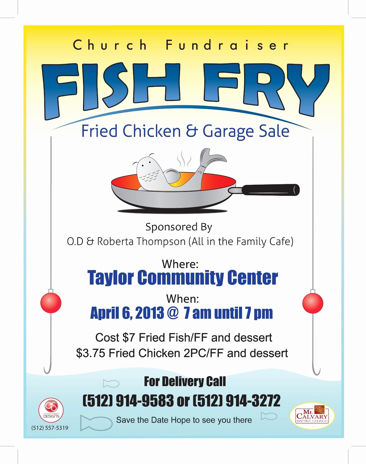 Fish Fry Flyer Template Elegant Anthony Simien