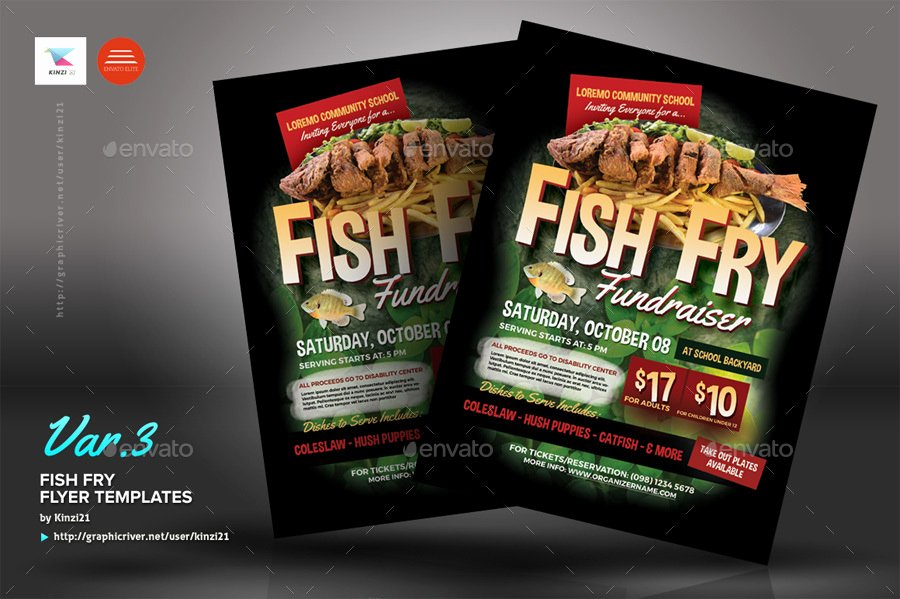 Fish Fry Flyer Template Luxury Fish Fry Flyer Templates by Kinzi21