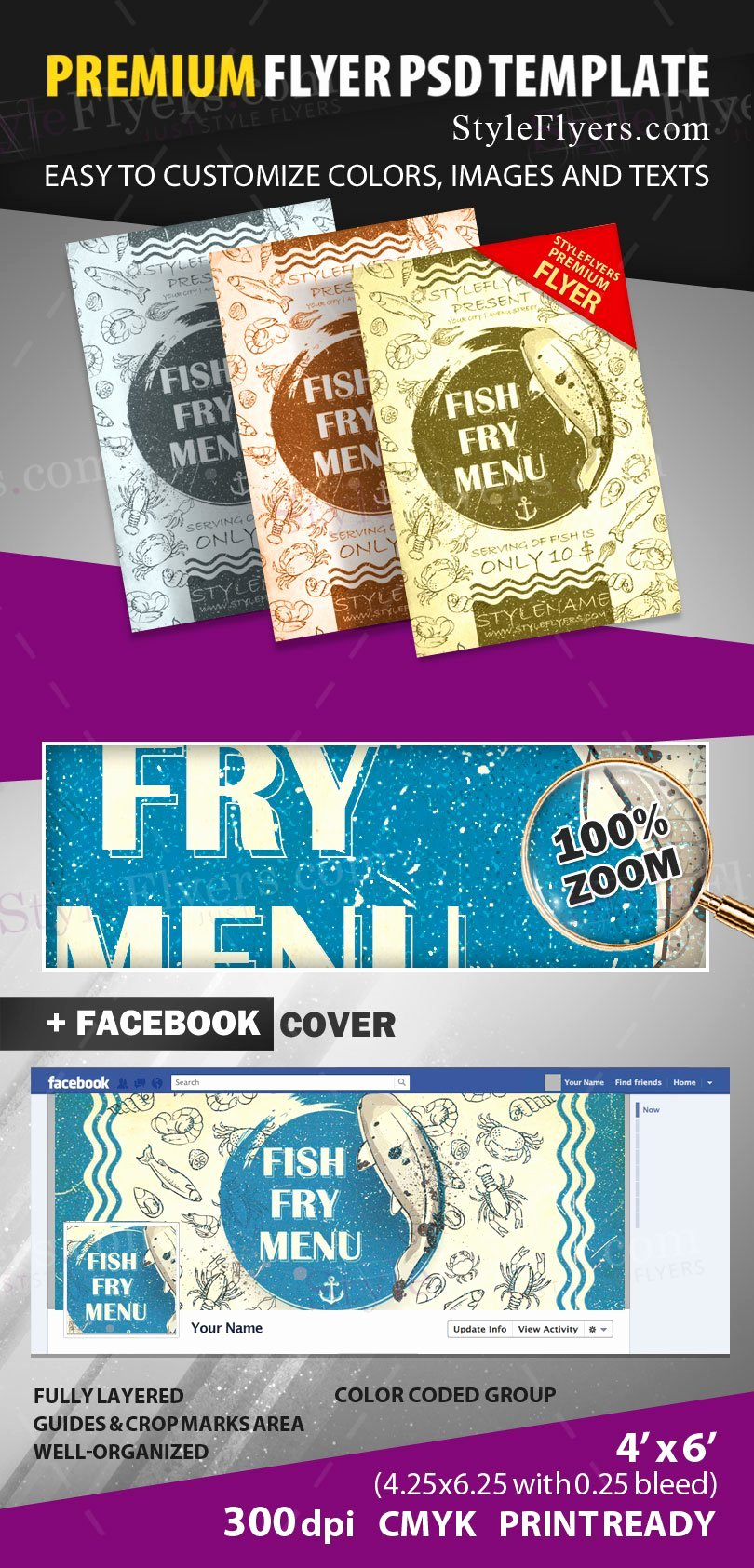 Fish Fry Flyer Template Luxury Fish Fry Menu Psd Flyer Template Styleflyers