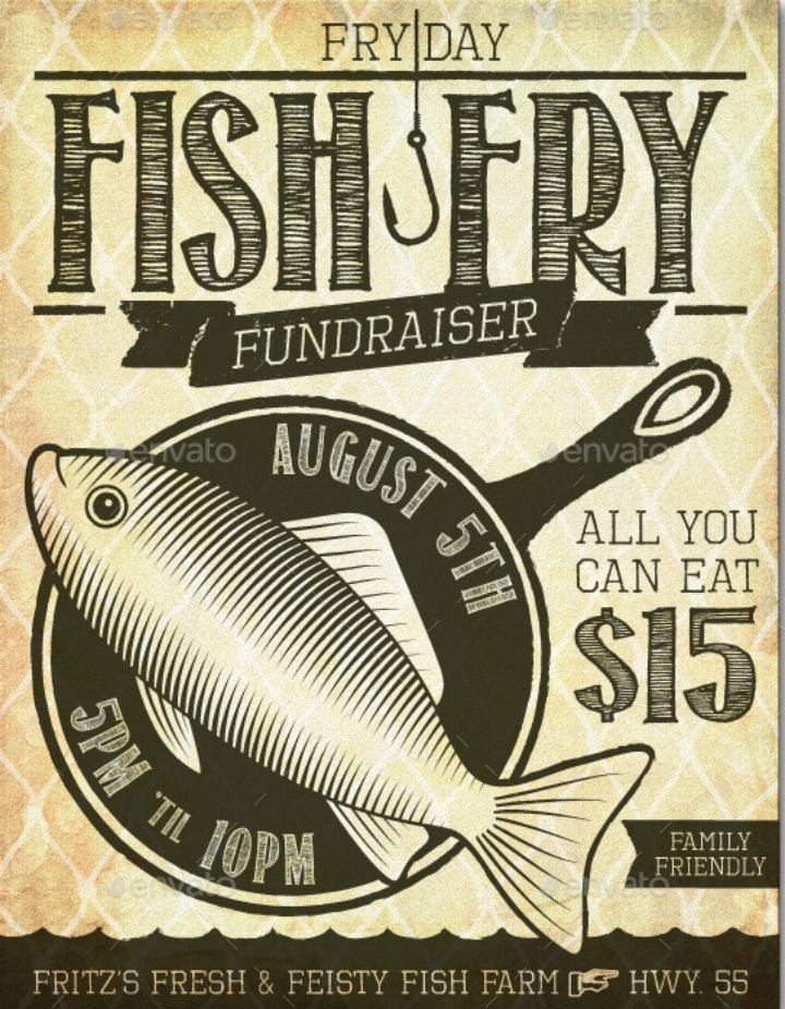 Fish Fry Flyer Template New 14 Restaurant Fundraising Flyer Designs & Templates Psd