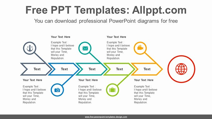 Fishbone Diagram Template Powerpoint Inspirational Fishbone Arrow Powerpoint Diagram Template