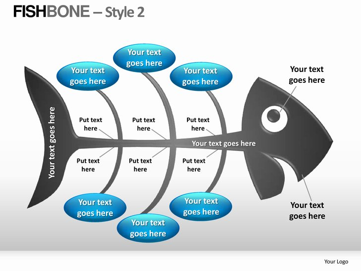 Fishbone Diagram Template Ppt Lovely Fishbone Style 2 Powerpoint Presentation Templates