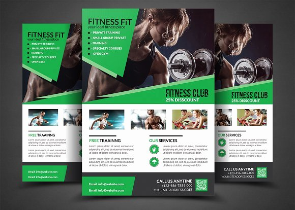 Fitness Flyer Template Free Awesome Fitness Flyer Gym Flyer Templates Flyer Templates