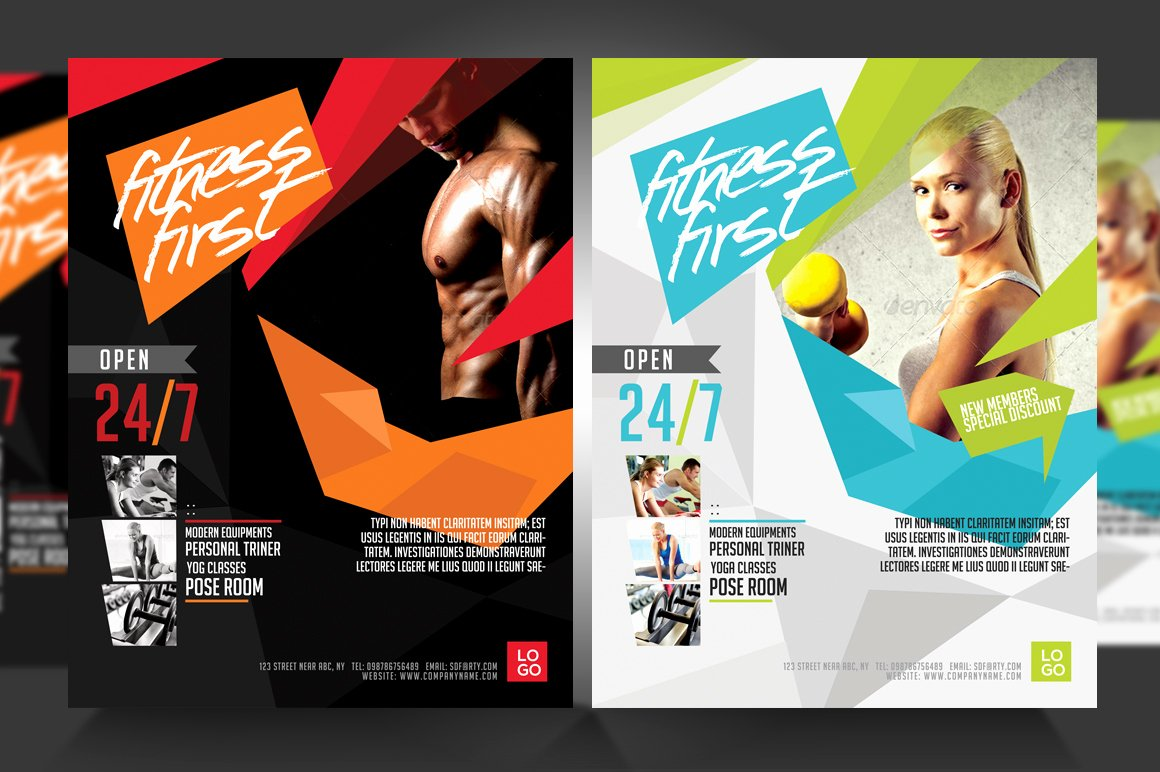 Fitness Flyer Template Free Awesome Fitness Flyer Gym Flyer V3 Flyer Templates On Creative
