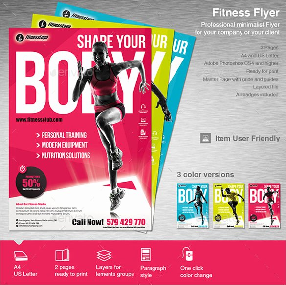Fitness Flyer Template Free Beautiful 10 Fitness Flyers