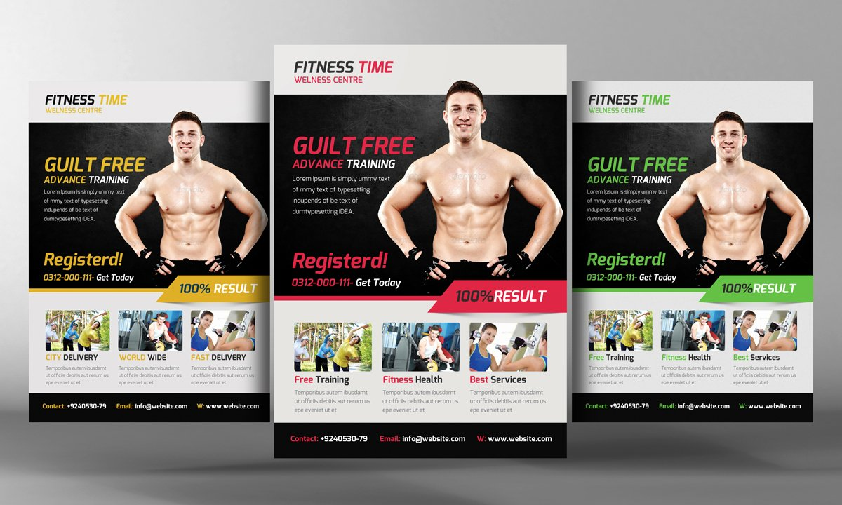 Fitness Flyer Template Free Beautiful Fitness Flyer Template Flyer Templates On Creative Market