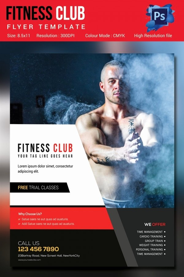 Fitness Flyer Template Free Elegant Fitness Flyer Template 32 Free Psd format Download