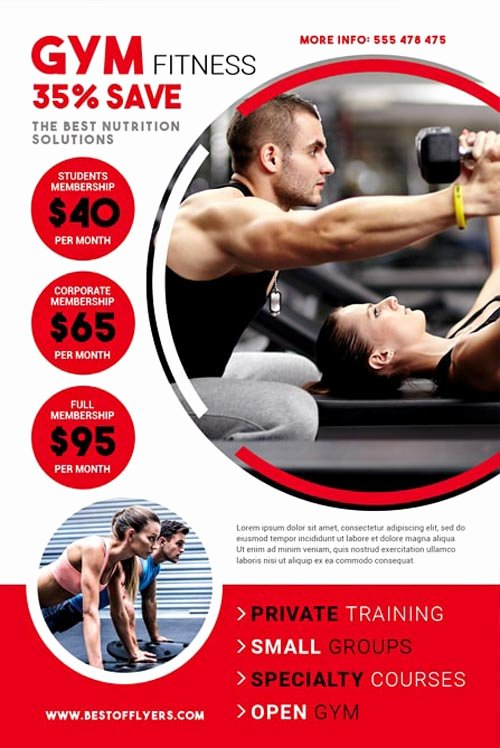 Fitness Flyer Template Free Fresh Download the Gym Fitness Free Flyer Template for Shop
