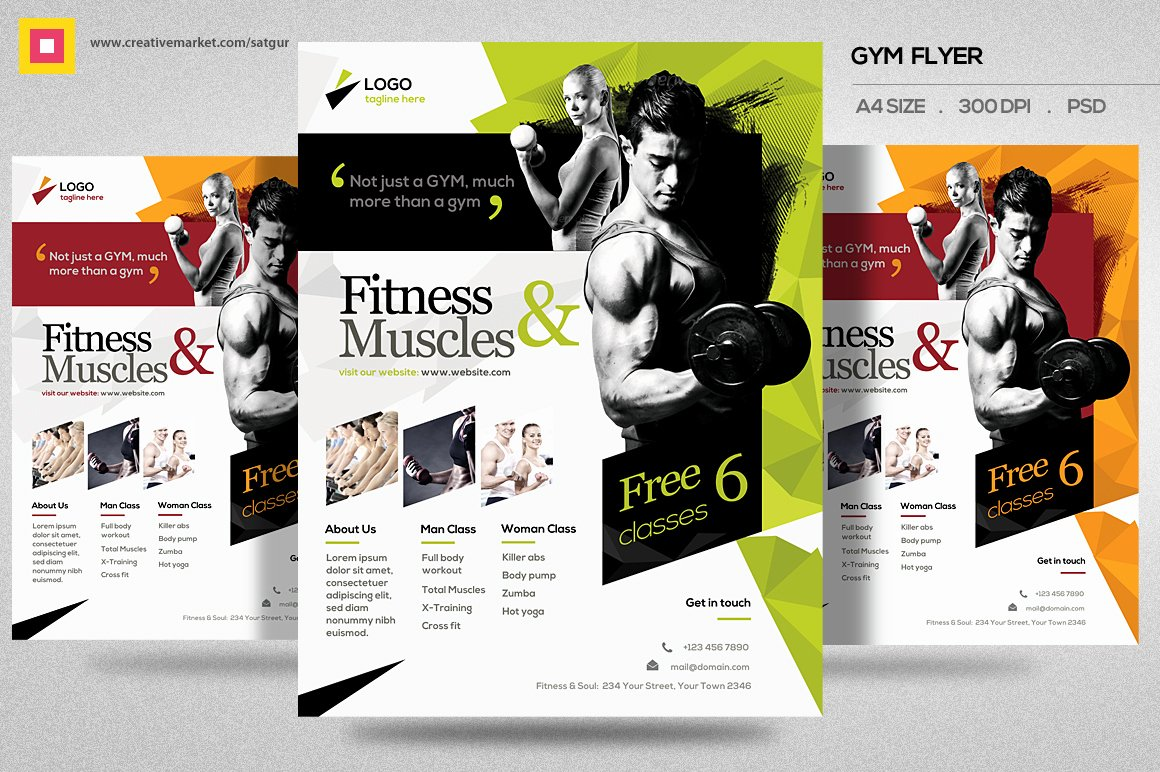 Fitness Flyer Template Free Inspirational Fitness Flyer Gym Flyer V11 Flyer Templates On