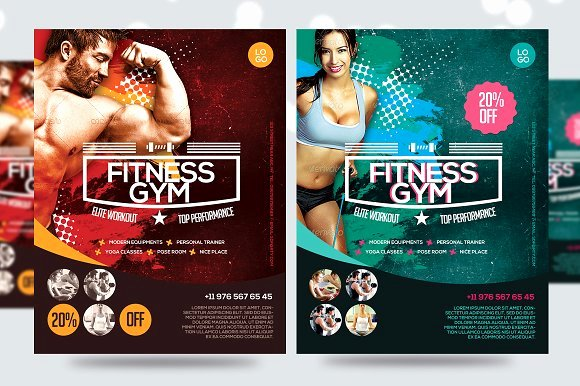 Fitness Flyer Template Free Inspirational Fitness Flyer Gym Flyer V7 Flyer Templates Creative
