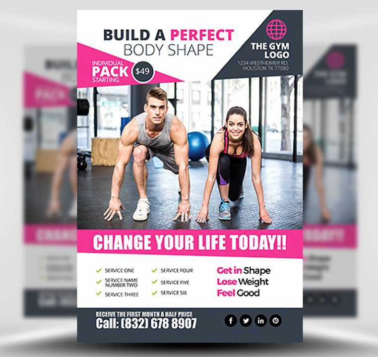 Fitness Flyer Template Free Inspirational Gym Flyer Template 2 Flyerheroes