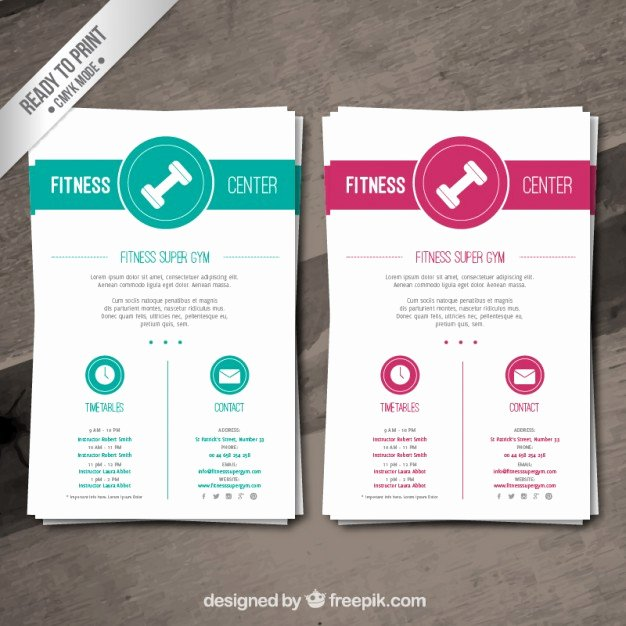 Fitness Flyer Template Free New Fitness Brochure Template Vector