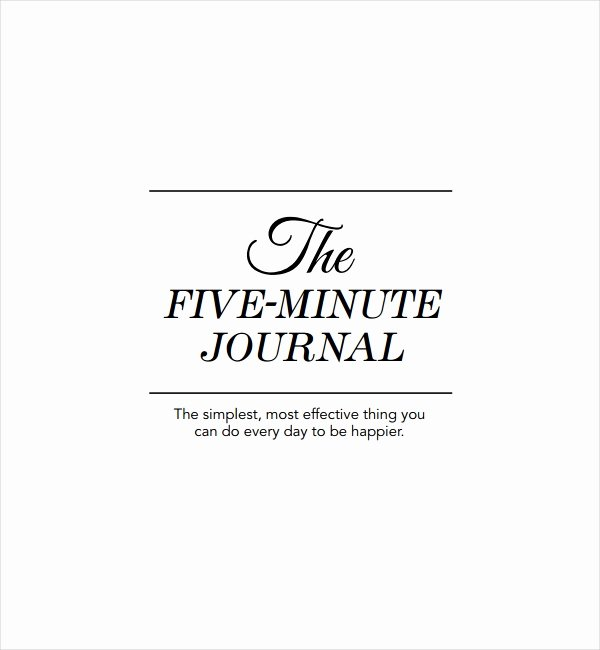 Five Minute Journal Template Inspirational 2 Five Minute Journal Templates Pdf