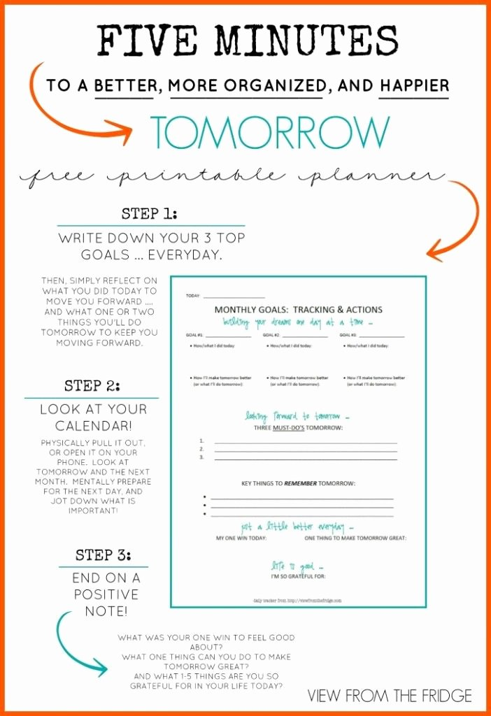 Five Minute Journal Template Inspirational Free Daily Planner Printable 5 Minutes to A Better More
