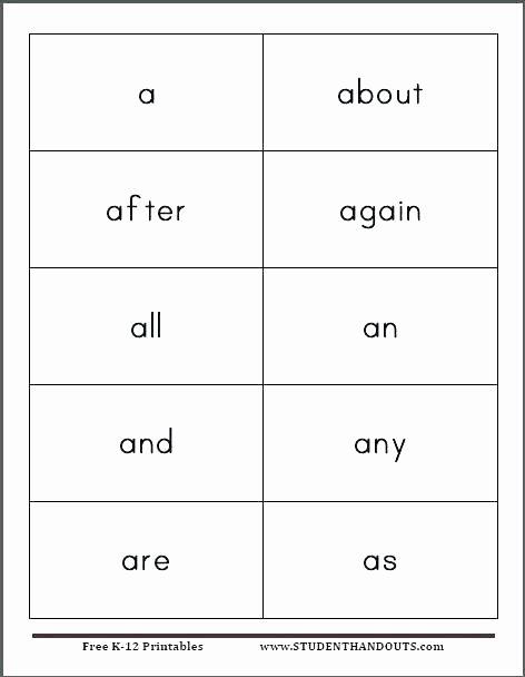 Flash Card Template Word Fresh Sight Word Templates Free Jurakuenfo