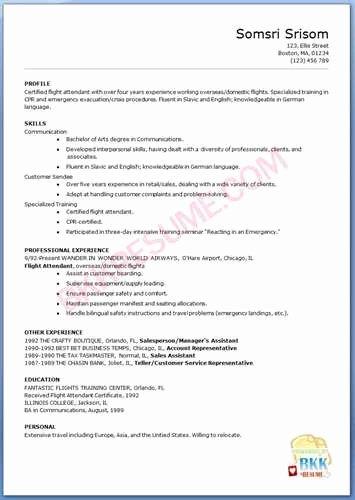 Flight attendant Resume Template Beautiful Flight attendant Resume Objective 1
