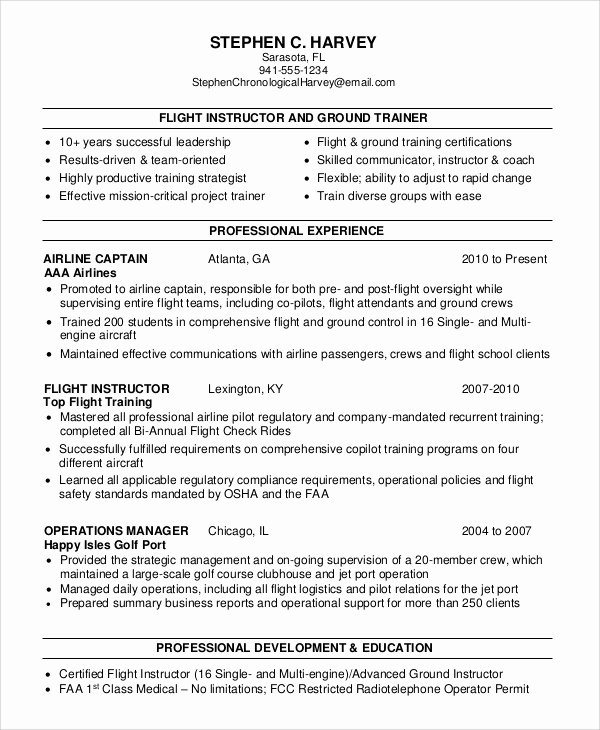 Flight attendant Resume Template Inspirational 6 Sample Flight attendant Resumes