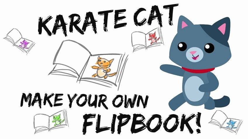 Flip Book Template Printable Unique Karate Cat Flip Book Explore