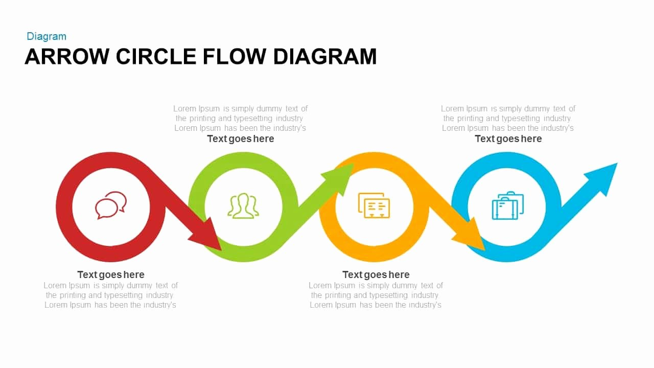 Flow Chart Ppt Template Fresh Arrow Circle Flow Diagram Powerpoint Template and Keynote