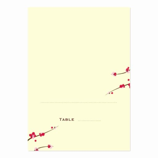 Foldable Business Card Template Elegant Cherry Blossom Folded Place Cards Business Card Templates