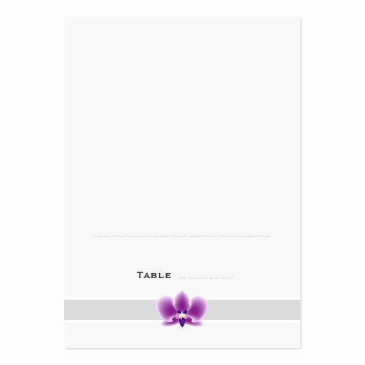 Foldable Business Card Template Inspirational Dark Purple orchid Folded Place Cards Business Card