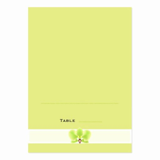 Foldable Business Card Template Lovely Green orchid Folded Place Cards Business Card Templates