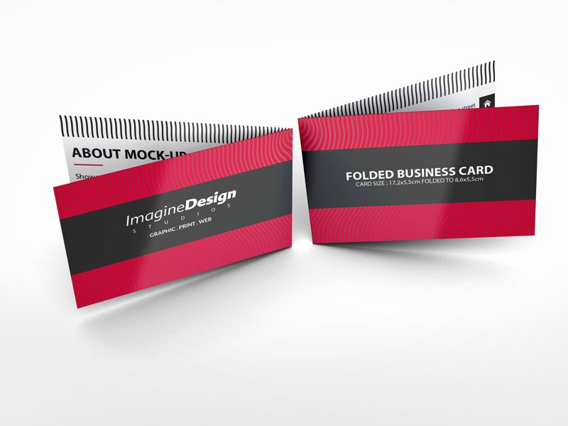 Foldable Business Card Template New Folded Business Card Mockup V1 by Idesignstudio Dribbble
