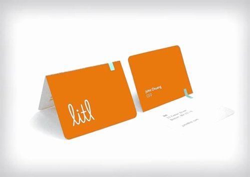 Foldable Business Card Template New Folded Business Cards Design