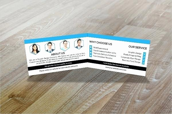 Folded Business Card Template Lovely Tri Fold Business Cards Template Folded Business Cards