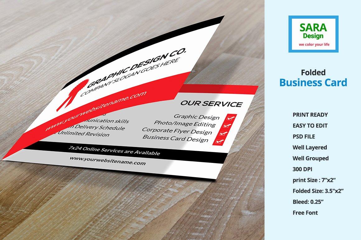 Folded Business Card Template Luxury Folded Business Card Vol 1 Business Card Templates On