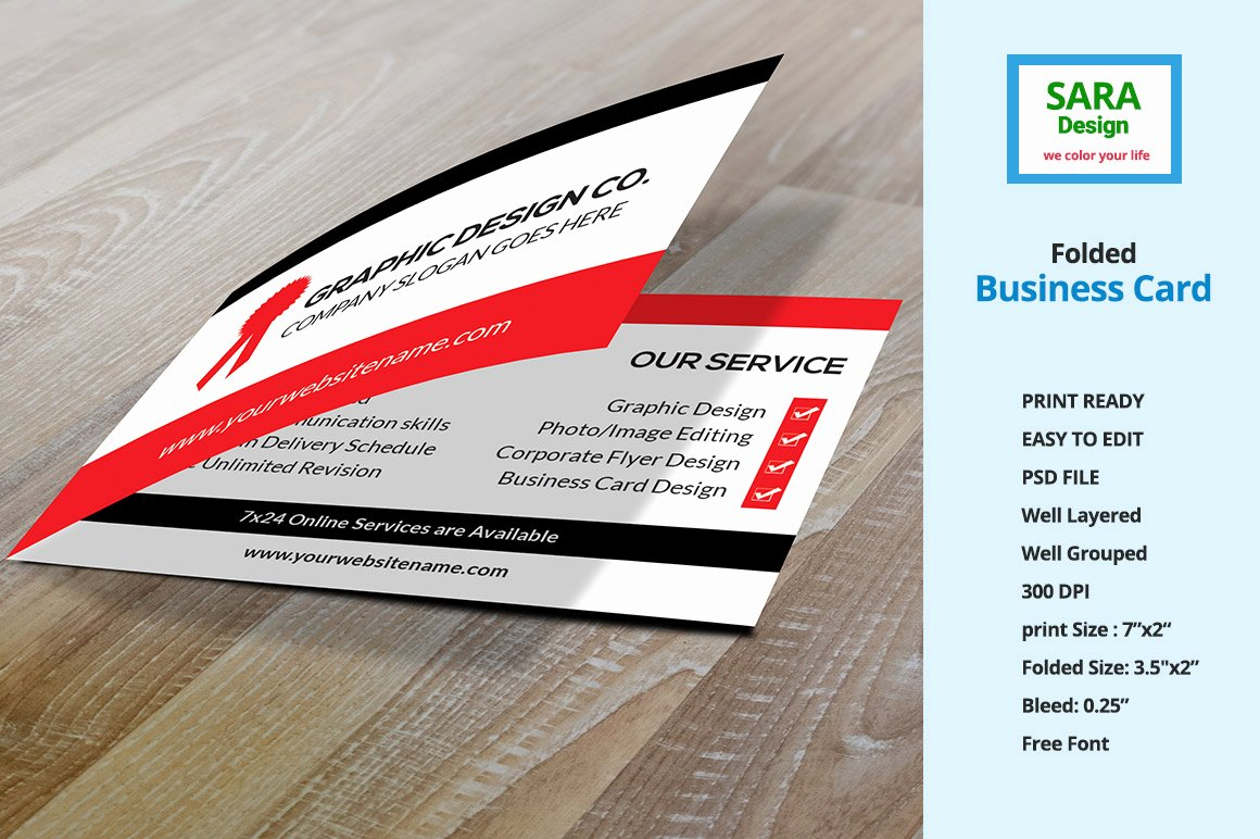 Folded Business Cards Template Awesome Folded Business Card Vol 1 Business Card Templates On