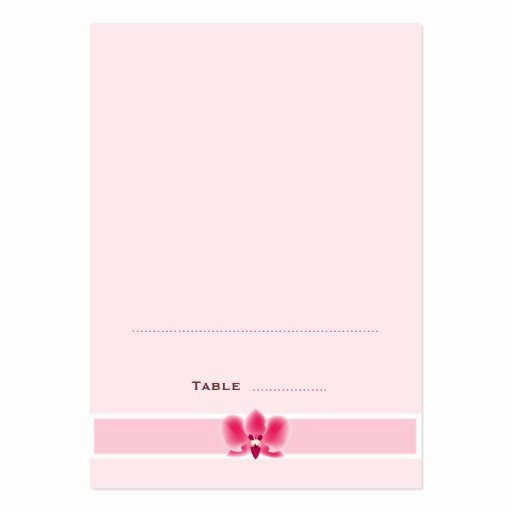 pink orchid folded place cards business card
