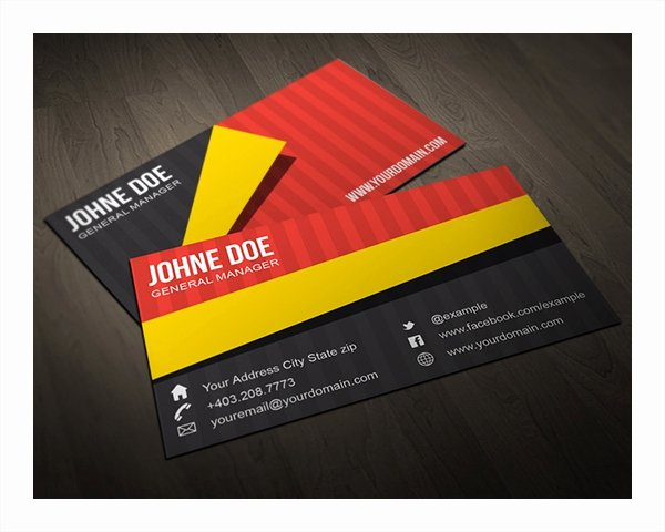 Folded Business Cards Template New 22 Folded Business Cards Psd Ai Vector Eps